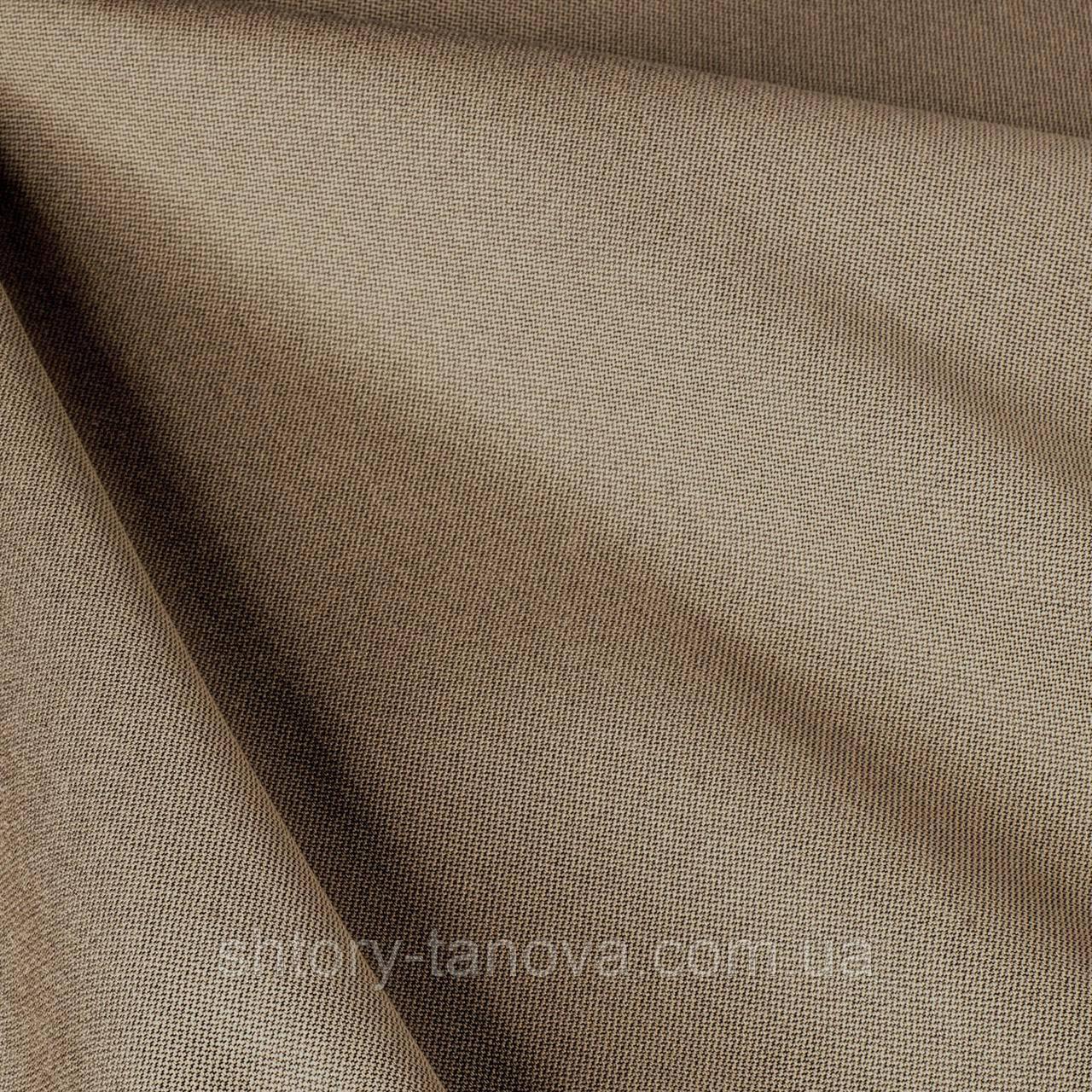 Дралон однотонный с тефлоновым покрытием, бледно-коричневый