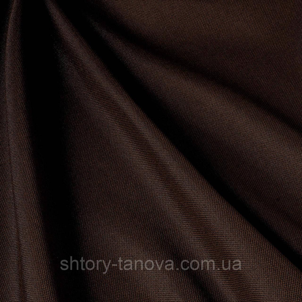 Дралон однотонный с тефлоновым покрытием, тёмно-коричневый