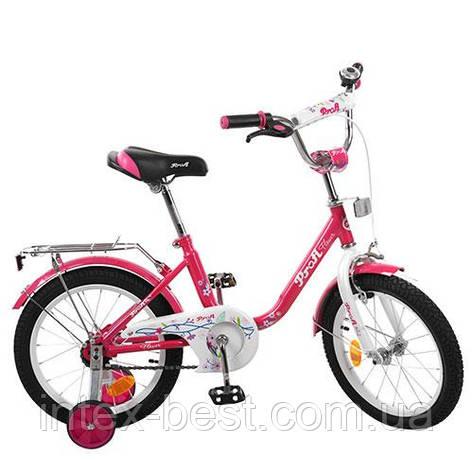 "Велосипед Profi 16"" Flower Малиновый (L1682), фото 2"