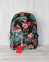 Универсальный школьный, студенческий рюкзак с цветочным принтом