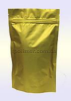 Пакеты Дой-пак 140х240 мм для кофе, чая (золотые матовые)