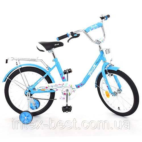 """Велосипед Profi Flower 14"""" Голубой (L1484)"""