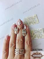 Серебряный гарнитур с золотом и фианитами Соренто, фото 1
