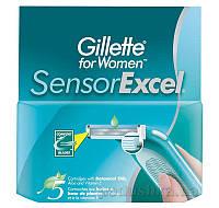 Сменные картриджи для женского бритья Gillette Sensor Excel 5 шт