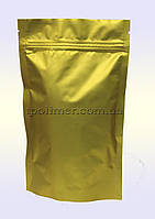 Пакеты Дой-пак 180х280 мм для кофе, чая (золотые матовые)