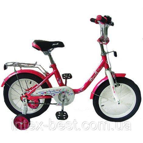 """Велосипед Profi Flower 14"""" Малиновый (L1482)"""