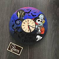 Часы настенные цветные из дерева «Nightmare before Christmas»
