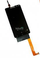 Дисплей Lenovo S898 with touchscreen black orig