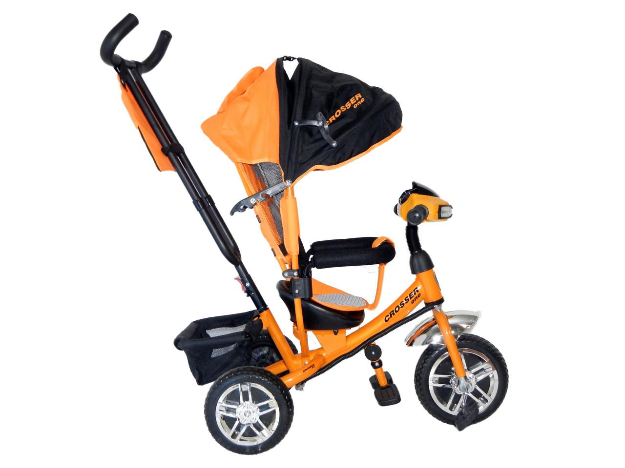 Детский трехколесный велосипед Crosser One T-1 с фарой