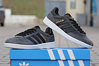 Adidas spezial мужские кроссовки серые замшевые