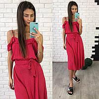 Легкое летнее платье в горошек Мими