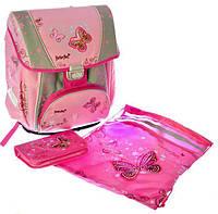 Набор PREMIUM-B: рюкзак-коробка+мешок для обуви+пенал плоский Butterfly