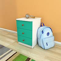 Тумба с тремя ящиками, Детская мебель