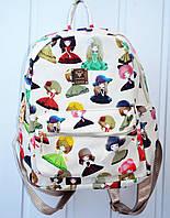 Универсальный школьный и студенческий рюкзак с эко-кожи