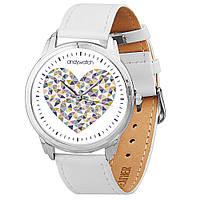 Наручные часы AndyWatch Сердечки на белом