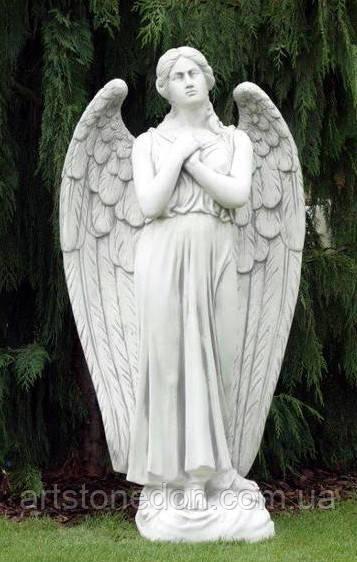 Скульптуры из бетона. Статуя Ангел скорби из бетона 140 см
