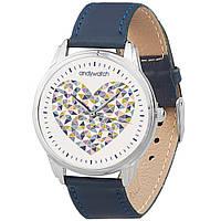 Наручные часы AndyWatch Сердечки на синем