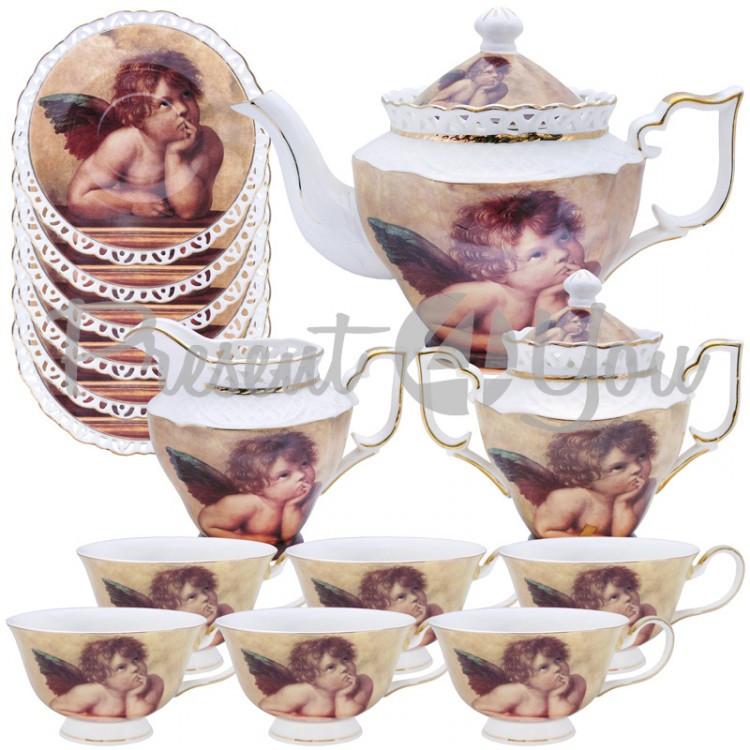Чайный сервиз «Ангел» (15 частей)