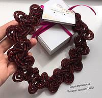 """Ожерелье """"Лаура"""" вишнёвого цвета, в красивой упаковке."""