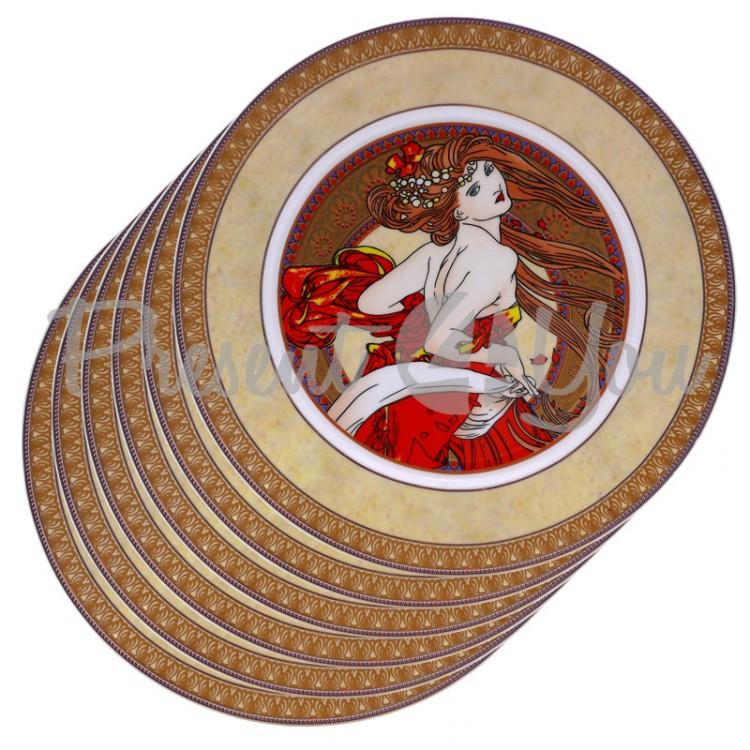 Набор тарелок «Танец» (6 шт.) d-20,8 см.