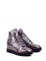 Женская демисезонная обувь оптом. Женские ботинки -сникерсы от производителя Violeta 20-206 Gun (8 пар,36-41)