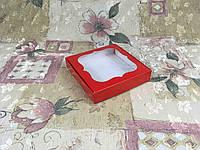 Коробка для пряников Красный с окном150*150*30 , фото 1