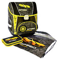 "Набор PREMIUM-E : рюкзак-коробка+мешок для обуви+пенал плоский ""Speed"""