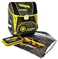 Набор PREMIUM-E : рюкзак-коробка+мешок для обуви+пенал плоский Speed