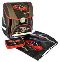 """Набор PREMIUM-F : рюкзак-коробка+мешок для обуви+пенал плоский  """"Racing"""""""