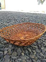 Плетеная хлебница крашеная, фото 1