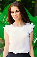 """Белая блузка """"Элизабет"""" в школу, офис, прогулку"""