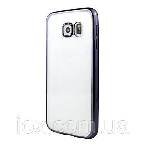 Силиконовый чехол-накладка с черными ободами Baseus для Samsung Galaxy S6
