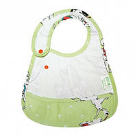 Cлюнявчик детский с карманом Premium с рисунком Baby bib Нагрудник