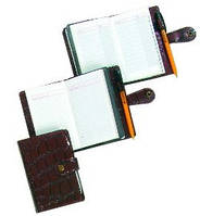 Записная книжка на кнопке Идеал с двойным блоком 64+48л. с алфав.,Ф-85х140 (укомплек.,ручкой, блок-офсет 60  ЗВ-41-И Бриск