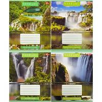 Тетрадь цветная 36 листов,линия «Водопады»