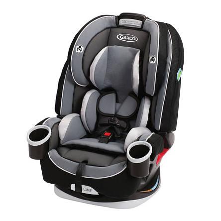 Детское автокресло Graco 4EVER ALL-IN-1, вес от 2 до 54 кг, Rockweave черный (серый), фото 2