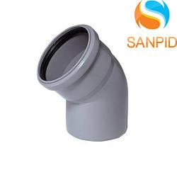 Колено для внутренней канализации Wavin 40/67°