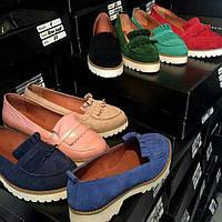 Женские Кожаные туфли-лоферы Италия