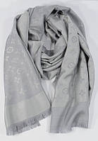 Палантин Louis Vuitton светло серый