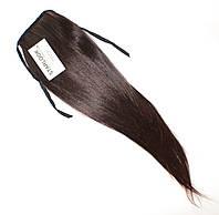 Хвост накладной на ленте из искусственных термо-волос оттенок №2-30 шоколадно-русый