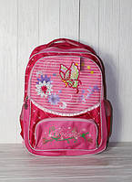 Школьный рюкзак для девочек, с бабочкой
