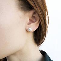 Сережки-гвоздики Кристальный шар 8 мм Арт. ER010SL, фото 4