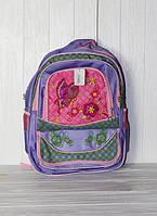 Школьный рюкзак для девочек сиреневый с бабочкой