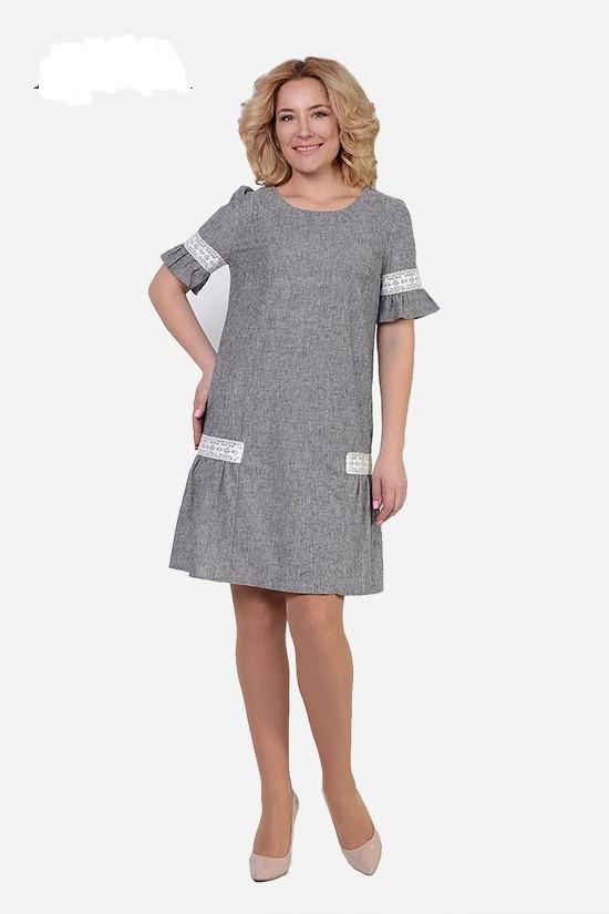 Женское интересное платье стрейч-лен