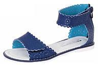 Синие босоножки для девочек Шалунишка размер 32 34 36