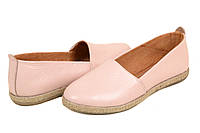 Туфли женские кожаные розовые