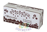 Мел белый квадратный, 100 шт/уп., код A7409