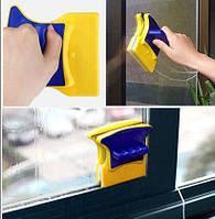 Магнитная двусторонняя щетка для мытья стекол Double Sided Glass Cleaner, фото 1