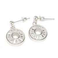 Серебряные сережки-гвоздики с фианитами Арт. ER002SV, фото 3