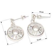 Серебряные сережки-гвоздики с фианитами Арт. ER002SV, фото 5